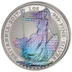 Great Britain - 2 Pounds 2017 'Britannia' hologram edition - 1 oz silver