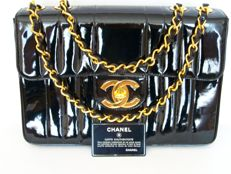 Chanel -- Mademoiselle (Jumbo) flap bag with 24K Gold-plated hardware