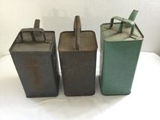 Esso and Caltex oil cans - circa 1950 - 30 cm high