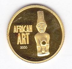 Congo - 20 grancs 2000 'African Art' - 1/25 oz gold