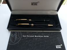 Set Montblanc 163 and 164 Black + Gold, used