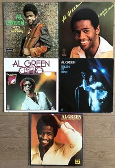 "Al Green: lot of five lp's ""Let's stay together"" ""Explores your mind""  ""The belle album"" ""Truth n time"" and ""Have a good time"""
