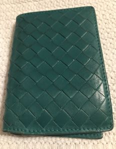 Bottega Veneta - Intrecciato green leather card holder - *No Minimum Price*