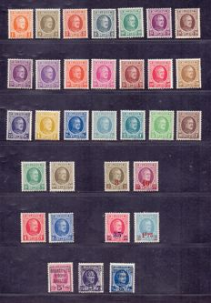 Belgium 1922/1929 – 4 full series Albert I 'Hoyoux' – OBP 190/210, 245/248, 254/257 and 273/275