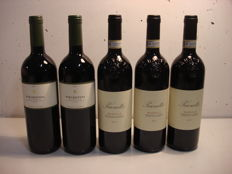2x 2003 Barolo 'Percristina' Domenico Clerico & 3x 2008 Barolo Prunotto - 5 bottles in total