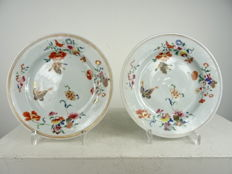 Two Famille Rose plates - China - Qianlong period (1735-1796)