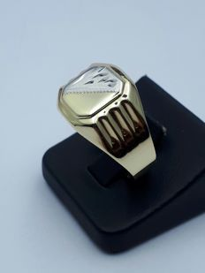 14 K Gold Gentleman's Ring - size 21,75mm
