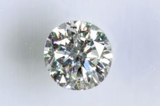 0.11 ct - Brilliant cut diamond - F, SI1 - No Reserve Price