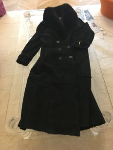 CHRISTIAN DIOR LONG SHEARLING COAT