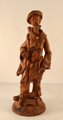 'Mafiusu' Terracotta piece - Signed - Superb