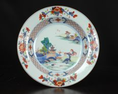 Polychrome Imari Qianlong plate - China - 18th century