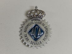 Very Nice Espana Spain Real Automovil Club De Andalucia SevillaCar Badge Auto Emblem with original fixings