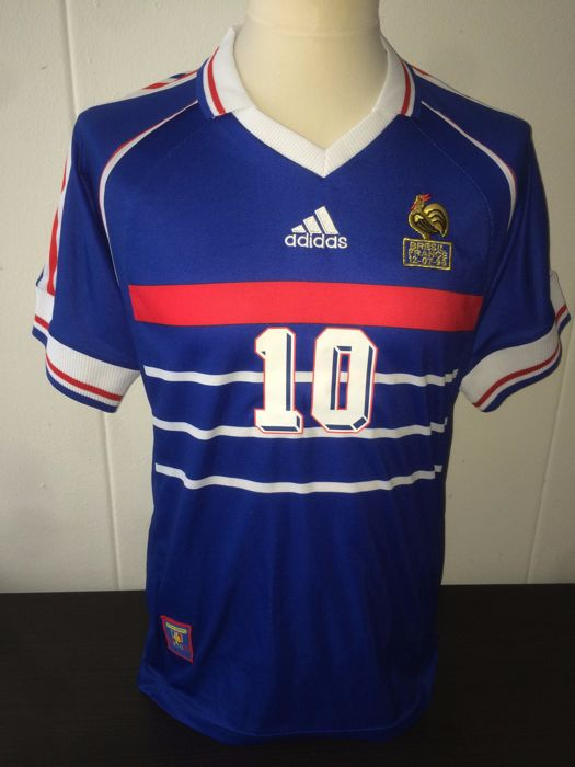 139a9dc67 France World Cup 1998 Final shirt Zinedine Zidane. - Catawiki