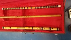 Three beautiful wooden flutes