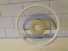 Vintage white Mercedes steering wheel - 1960s