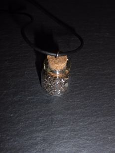 IVA meteorite pendant - glass bottle - 28 x 18 mm - 4.7gm