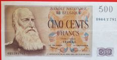 Belgium - 500 francs 1952 - Centenary type - Pick 130a