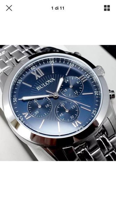 Bulova Chronograph, Men's, Blue  96A174