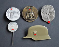 Third Reich 5 different badges
