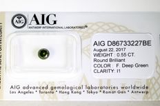 Fancy Deep Green Diamond – 0.55 ct