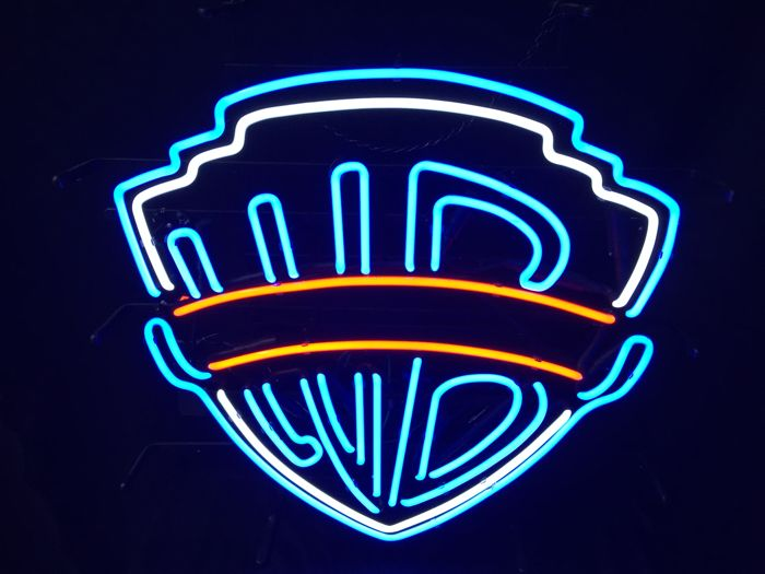 """Warner Bross"" Neon sign - 20th century"