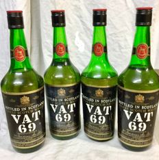 4 bottles Vat 69 - from the 1970s & 80's - Sanderson &Son Ltd