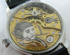 Longines - aircraft skeleton dial -  marriage watch - ca 1920
