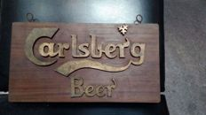 Advertising board from Carlsberg Beer
