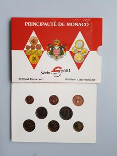 Monaco – Year collection Euro coins 2001