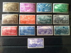 Italian Republic, 1948 – 'Risorgimento' – Complete series of 13 denominations, with Express. Sass. no. 580/591 and E32