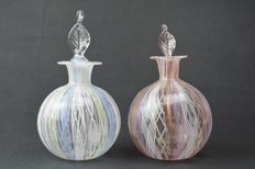 A.VE.M.  (Murano) - a pair of collectable Reticello bottles