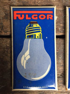 Enamelled sign lamps Fugor - late 50s