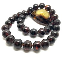 Classic necklace 48 cm with Baltic amber beads ø13mm