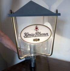 Advertising lantern for Konig Pilsener, mid 20th century