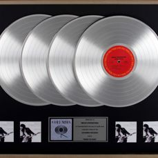 Bruce Springsteen - BORN TO RUN - 4x Platinum record award PRESENTED TO BRUCE SPRINGSTEEN