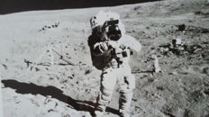 John Young works on the Moon (Apollo-16)