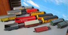 Fleischmann/Kleinbahn/Piko/Lima H0 - 13x various freight wagons of different companies.