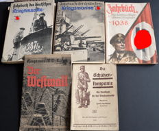 Third Reich 5 different military books