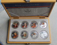 Paul - dollars 2009 '80 Years of the Vatican State' (8 different ones) in set