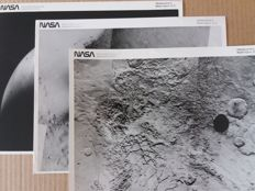 NASA, 3 original photographs of Mars.