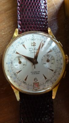 DIFOR chronograph – men's watch – vintage 60/70
