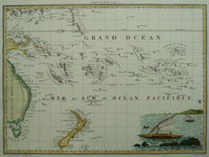 New Zealand, Pacific; Pierre Lapie - Océanique Orient - 1812