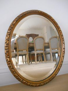 Antique gilded mirror from 1900