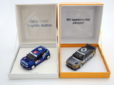 Spark Models - Scale 1/43 - Lot with 2 models: Renault 21 Turbo Superproduction #3 - J.  Ragnotti & Dacia Duster Trophee Andros #2 - A.Prost