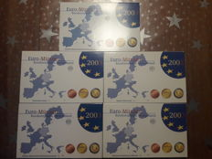 Germany - Year sets 2003 A, D, F, G, J (5 pieces), complete