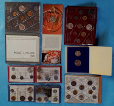 Italy, Vatican, San Marino -- Lot of commemorative coins and coin sets (7 packages, incl. silver)