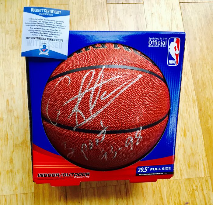 Dennis Rodman -  Original Personally Signed Oficial Spalding NBA Basketball - with Certificate of Authenticity Beckett
