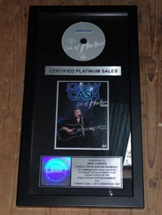 "Platinum Record award Johnny Cash ""Live at Montreux"" 1994 Dvd Disc Official"