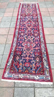 Old Very Beautiful Hand-knotted Persian - Hamadan runner 308cm x 83cm !