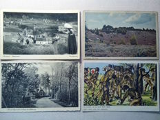 Netherlands,Belgium,Sweden, Denmark,France- very good lot of 93 old postcards (1909-1951)